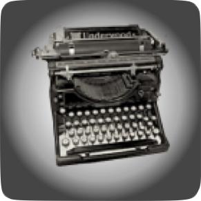 Typewriter Heinlein rules on writing