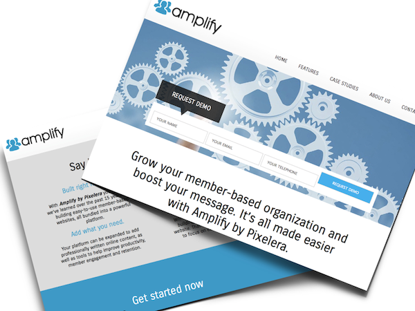 amplify screen web copy