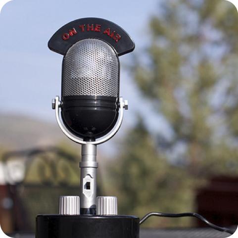 radio mic on the air